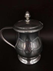 西洋 欧洲 咖啡壶 茶壶 镀银 1985年