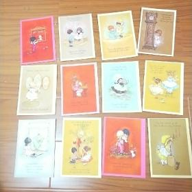 外国明信片。《童年时光》一套12张。未使用。