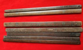 特价民国红木尺子7根共588元裁缝量布用工具包老怀旧带字号