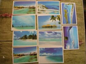 海景明信片10张(选快递赠送圆珠笔1个)