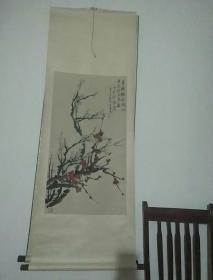 著名画家陈半丁花卉立轴