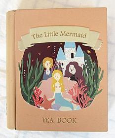 The Little Mermaid TEA BOOK:小美人鱼书型马口铁礼品茶盒收纳盒 (猫的天空之城定制)