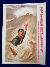 6宣传画:毛主席的红卫兵(向革命青年的榜样金训华同志学习)