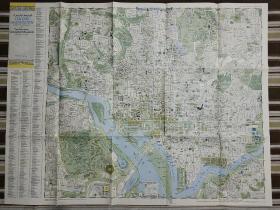 National Geographic国家地理杂志地图系列之1948年9月 A Pocket Map of  Washington 华盛顿地图
