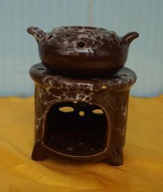 小瓷炉瓷壶高11厘米 原物拍照(A27)