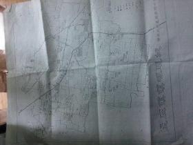 """设计文献   清华大学著名教授朱祖成旧藏   一张图纸  上面唯一地名为""""桐柏镇三砖厂""""  有裂口修补过"""