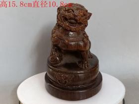 清代传世雕工不错的老狮子摆件