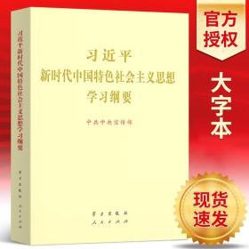 正版现货 2019年习近平新时代中国特色社会主义思想学习纲要 16开(大字本) 学习出版社人民出版社