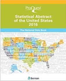 英文原版 Proquest Statistical Abstract of the United States 2016 美国统计摘要2016  国内罕见,请买家付款前与卖家联系