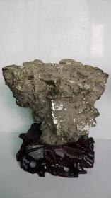 黄铜、铁、金矿石摆件;旺财石、观赏石、招财镇宅风水原石摆件