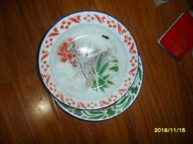 中国骆驼牌 搪瓷盘1对