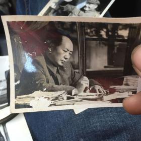 毛主席像黑白照片
