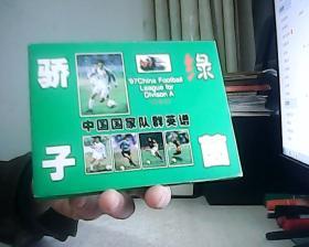 绿茵骄子 中国国家队群英谱 明信片13张