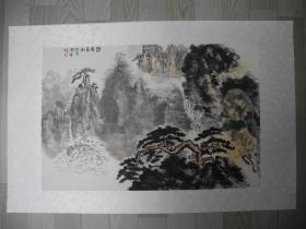 【名家书画】上海名家/贺天健的高徒丘陶峰山水画《幽谷长松/68*45》