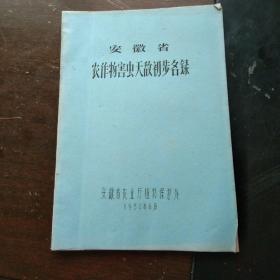 【油印本】安徽省农作物害虫天敌初步名录