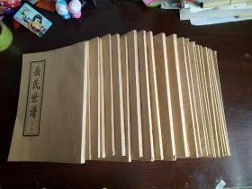 岳氏世谱 (山东淄博博山) 全书二十七卷现缺第一卷第二卷第三卷第二十二卷 存二十三卷合售