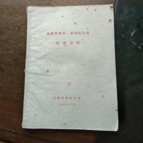 【油印本】安徽省森林、果树病虫害普查资料