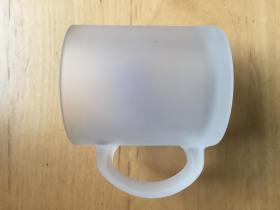 阿华田马克杯  磨砂玻璃家用口杯     本色