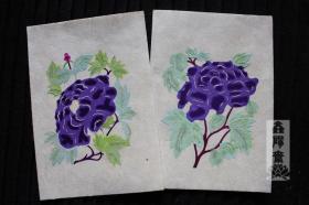 鑫阳斋。云龙纸棉纸贴花朵彩色老剪纸 意大利品牌收藏品
