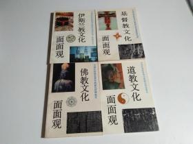 伊斯兰教文化面面观、佛教文化面面观、道教文化面面观、基督教文化面面观(4册合售)见描述