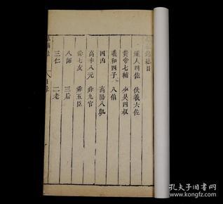 """明版清印《群辅录》1册一套全,伟大诗人陶渊明的著作。他是两汉魏晋以来800年间最杰出的诗人与散文家。被称为""""千古隐逸之宗""""。记述:燧人氏、黄帝、舜、周文王、孔子、刘邦等领袖人物的左膀右臂的传记。以及竹林七贤、琅琊八王等。为他们立传,陶渊明是世上第一人。珍贵罕见"""