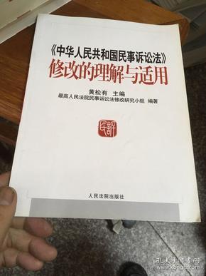 《中华人民共和国民事诉讼法》修改的理解与适用