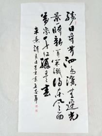 【保真】中国书法研究会会员、山东省书协会员王忠华作品:朱熹《春日》
