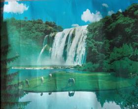 瀑布风景画