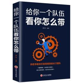 给你一个队伍看你怎么带 企业管理书籍畅销书 吉林文史出版社 畅销书籍