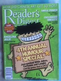 美国原版杂志Readers Digest读者文摘2007 安吉丽娜·朱莉专访,等