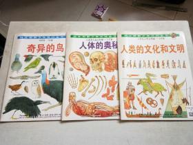 科文图解少年百科全书--奇异的鸟、人类的文化和文明  人体的奥秘【3册合售】