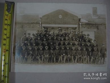 1936年 侵华日军合影集体照片 (大队本部门前)