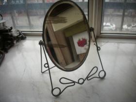 民国时期【老镜子】一个!背面香烟广告!不算支架-镜子尽尺寸25.5/18厘米
