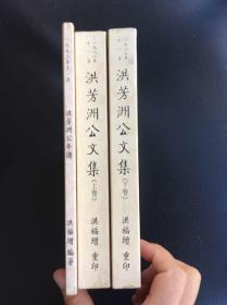 洪芳洲公文集(上下全2册1989年影印光绪版本+ 洪芳洲公年谱