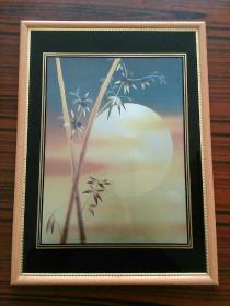 镜框画(品自鉴)(尺寸:长56cm,宽41cm)