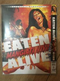 实拍 意大利 翁贝托·伦齐 Umberto Lenzi 食人帝国 Mangiati vivi (1980) Eaten Alive DVD D9