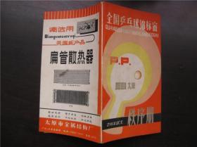 全国乒乓球锦标赛秩序册  1981太原