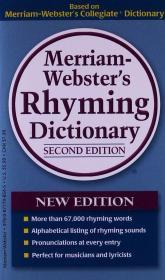 Merriam-Webster's Rhyming Dictionary, 2nd ed韦氏押韵词典,第二版