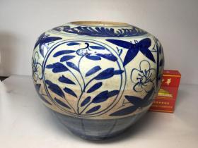 清代青花大罐,清代宣统青花大罐 老瓷器 开门老货 包老包真,沁色自然古朴神韵非常稀有值得永久收藏