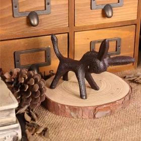 铸铁小毛驴一枚,哈哈/萌萌哒/茶宠可置于案头品茗玩味/黔之驴