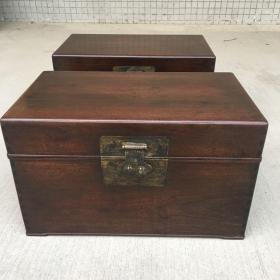 传世老木器书箱子一对
