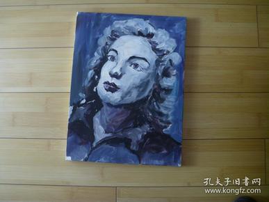 手绘画布面装饰油画 【有木质画框】 女人头像