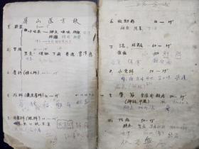 B6483 五十年代台湾南部《屏山医方诀》草稿大开本一厚册,屏山指高雄屏山书院,详细的分了十二类症,由于日本占领台湾时间较长,书的内容看到了不少汉医方剂,也带了少许中西医结合内容。尺寸32X21,高2厘米约200面。