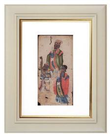 手绘《道教人物画像》移动的壁画、人物描绘栩栩如生、充满着沧桑的残缺美 6