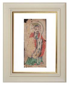 手绘《道教人物画像》移动的壁画、人物描绘栩栩如生、充满着沧桑的残缺美 9