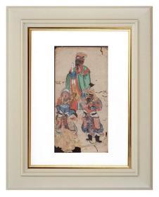手绘《道教人物画像》移动的壁画、人物描绘栩栩如生、充满着沧桑的残缺美 10
