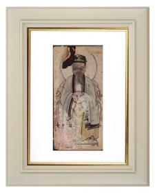 手绘《道教人物画像》移动的壁画、人物描绘栩栩如生、充满着沧桑的残缺美 13