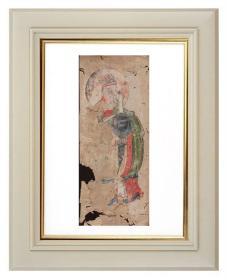 手绘《道教人物画像》移动的壁画、人物描绘栩栩如生、充满着沧桑的残缺美 14