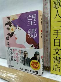 森瑶子 望郷  日文原版64开角川文库版小说书も
