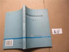 中小企业企业文化论纲  潘晓时  著 企业管理出版社